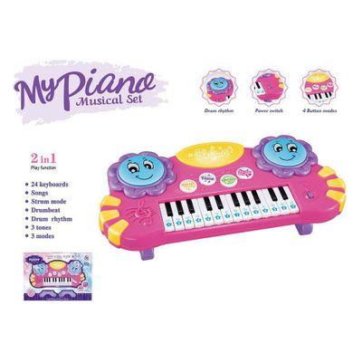 Piano-Con-Bateria-Rosa