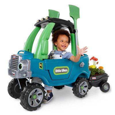 Montable-Cozy-Camion-Con-Remolque-Verde---Little-Tikes